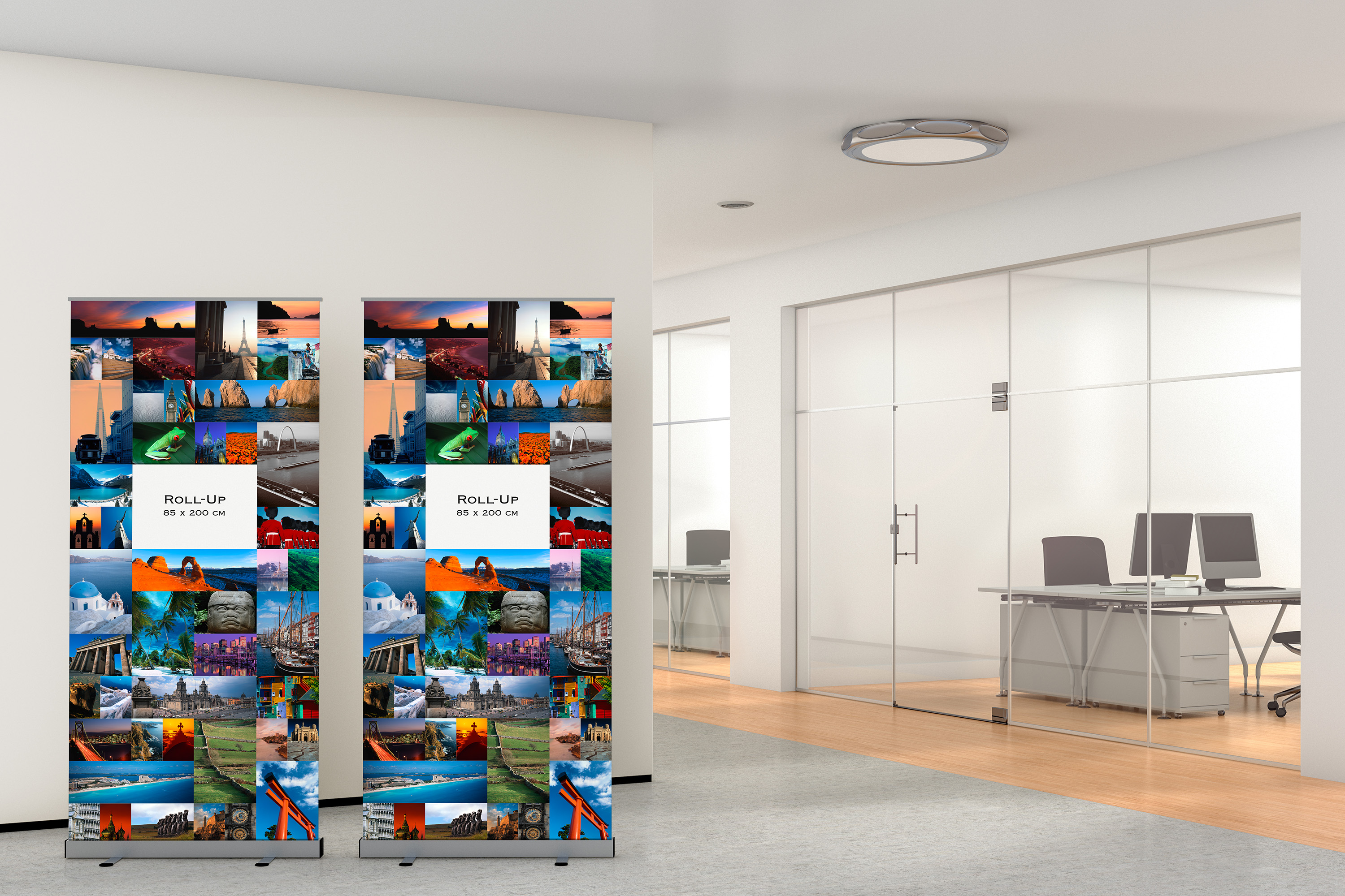 Roll-Up, Displays, Rollup Systeme